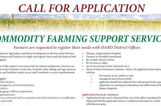Call for Application: Farming Support Services