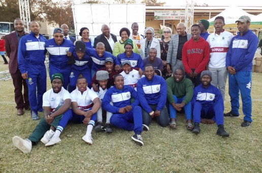 The Honorable Free state Premier and the MEC for Agriculture & Rural Development with the Glen College Team